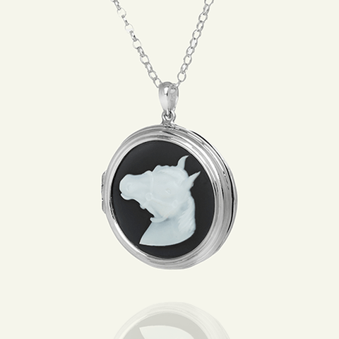 Cameo Horse Locket
