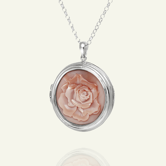 Cameo Rose Locket - The Locket Tree