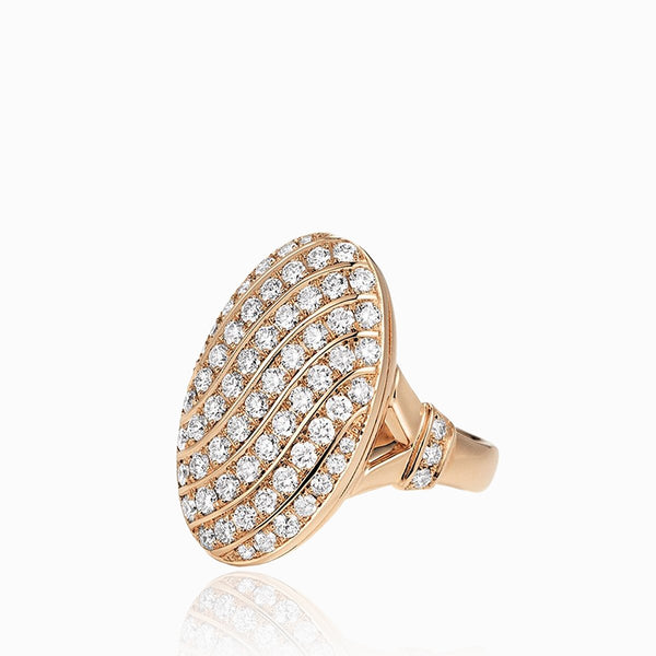 Product title: 18 ct Rose Gold Pavé Diamond Locket Ring, product type: Ring