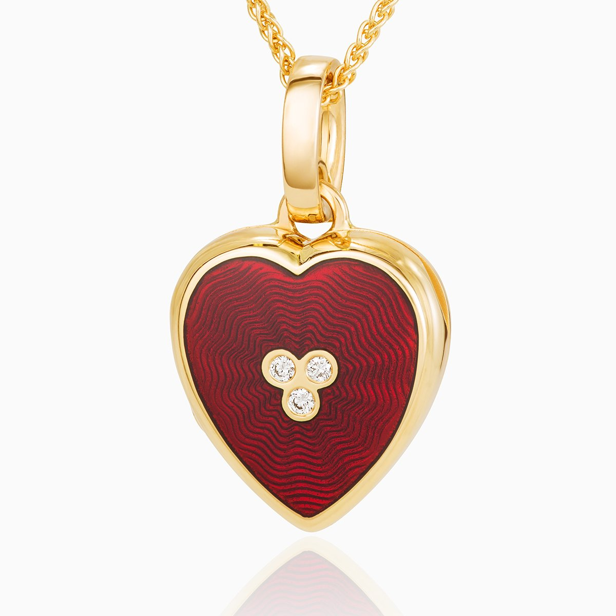 Product title: Petite Red Guilloche Heart Locket, product type: Locket