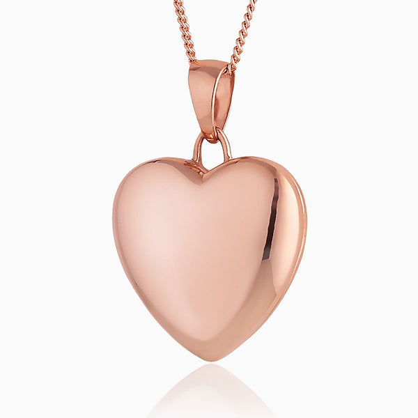 Product title: Rose Gold Heart Locket, product type: Locket