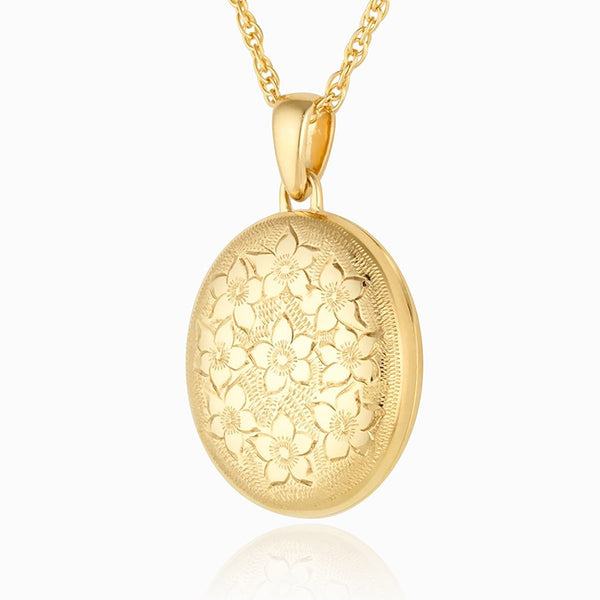 Product title: Golden Bouquet Oval Locket, product type: Locket