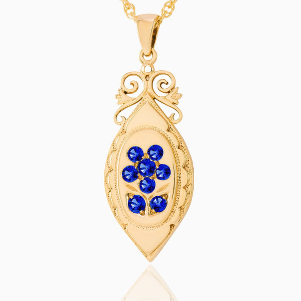 Product title: Forget-Me-Not Jewelled Keepsake Locket, product type: Locket