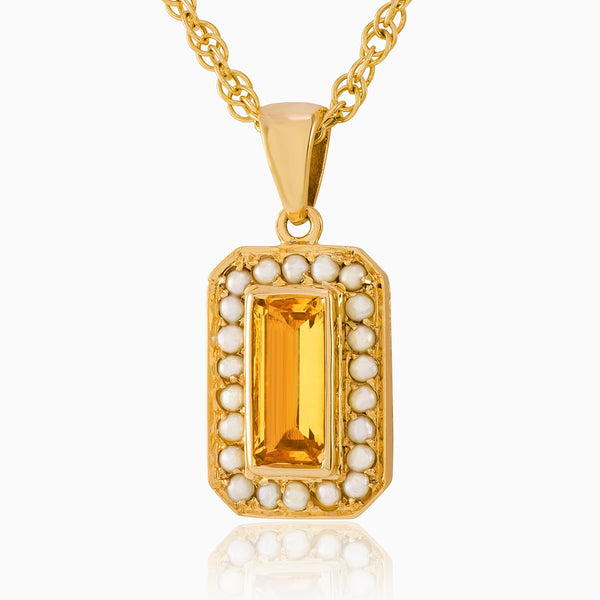 Product title: Dainty Citrine Vintage Locket, product type: Locket