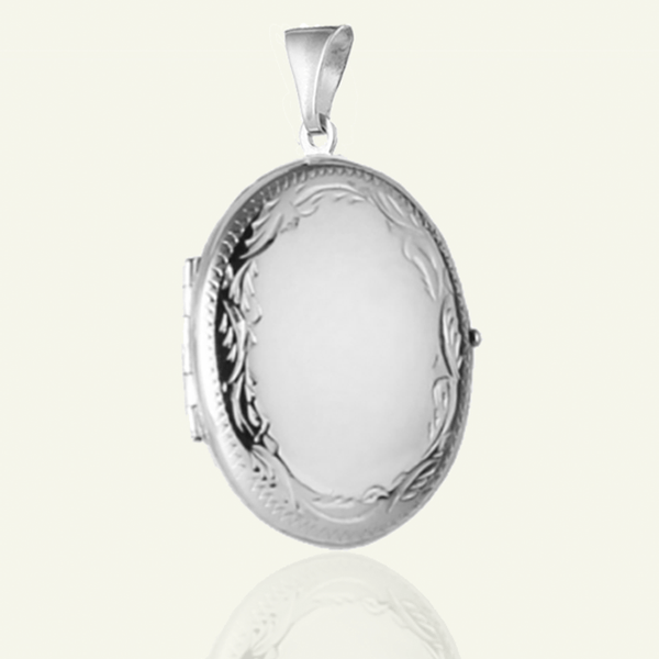 Oval 4-Photo Engraved Locket - The Locket Tree