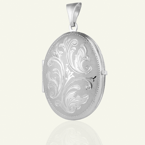 Large Victorian Scrolling Locket - The Locket Tree