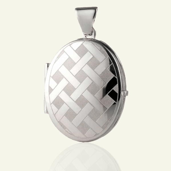 Silver Criss Cross Locket - The Locket Tree