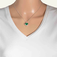 Product title: Petite Malachite Heart Locket 13 mm, product type: Locket