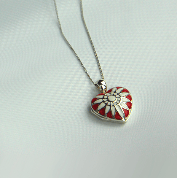 Crimson Sunray Locket - The Locket Tree