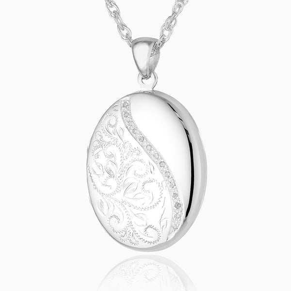 Product title: Diamond Swirl Locket, product type: Locket