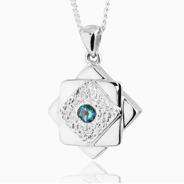 Product title: Contemporary Topaz Star Locket, product type: Locket