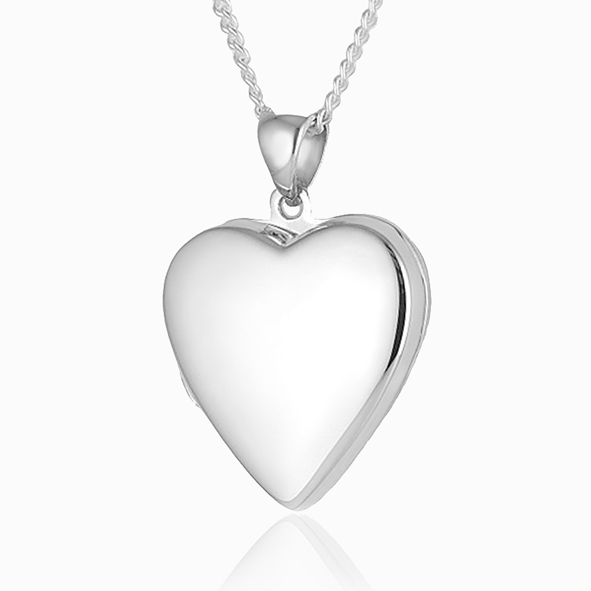 Product title: Contemporary Plain Silver Heart, product type: Locket