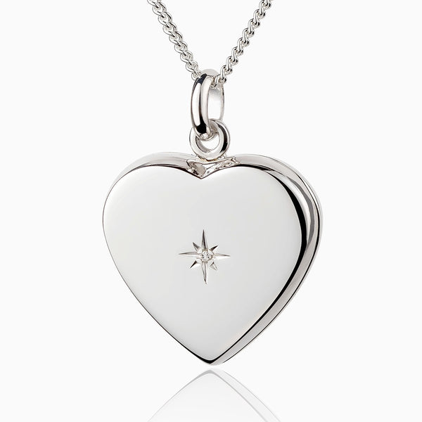 Product title: Diamond Silver Heart Locket, product type: Locket