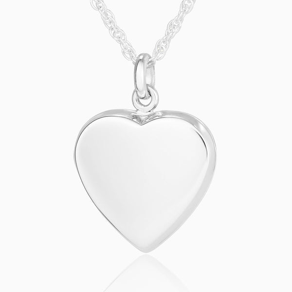 Product title: Plain Silver Heart Locket, product type: Locket