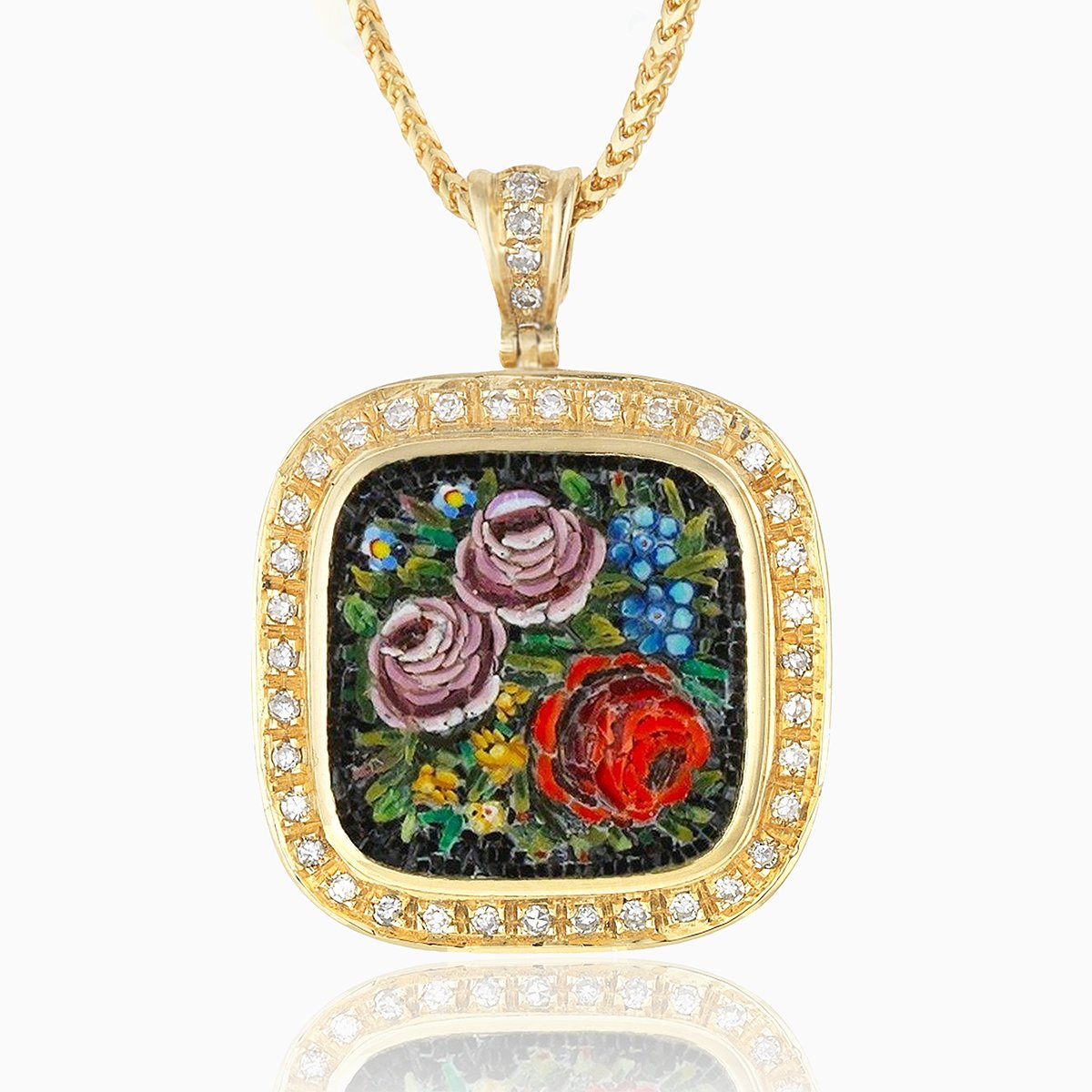 Product title: Flower Micromosaic Locket, product type: Locket