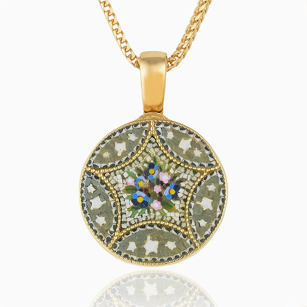 Product title: Petite Round Micromosaic Locket, product type: Locket