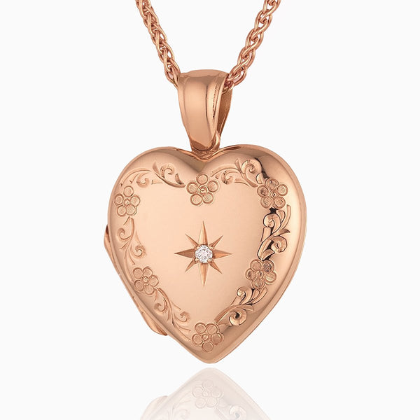 Product title: Rose Gold Floral Locket, product type: Locket