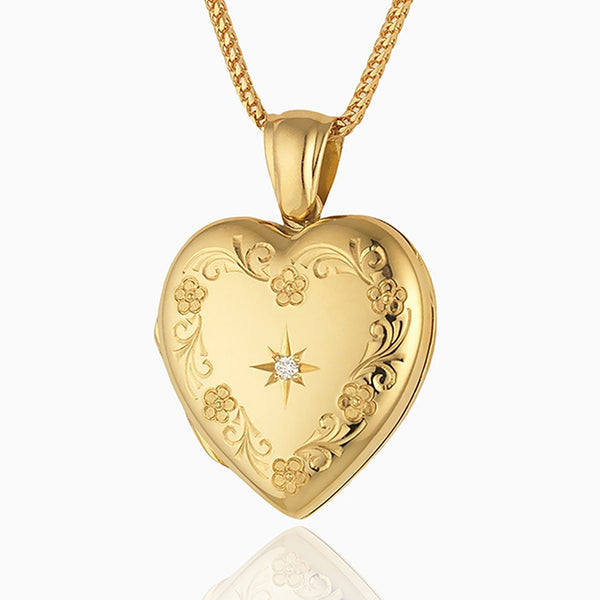 Product title: Classic Floral Diamond Locket, product type: Locket