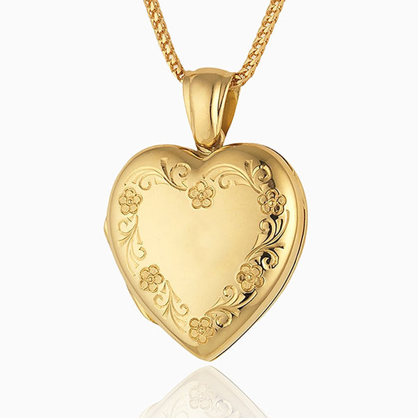 Product title: Classic Floral Heart Locket, product type: Locket
