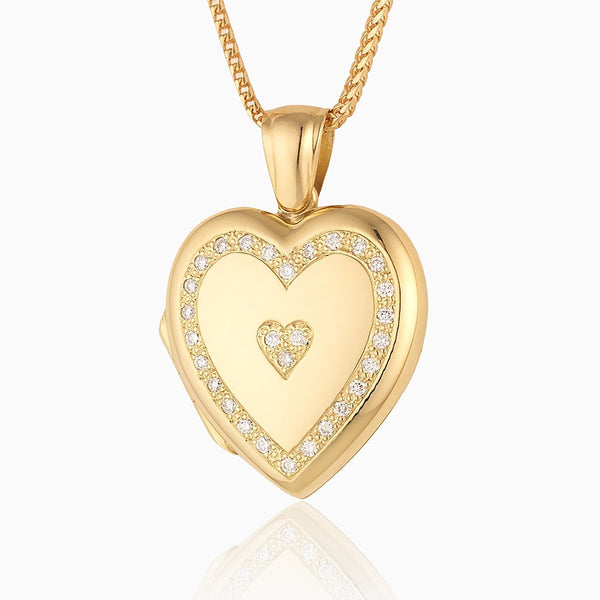 Product title: Diamond Surround Locket, product type: Locket