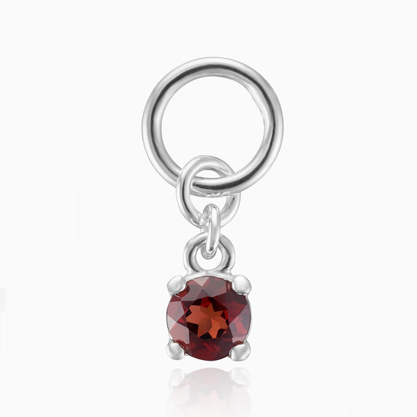 Product title: Red CZ Silver Charm, product type: Charm
