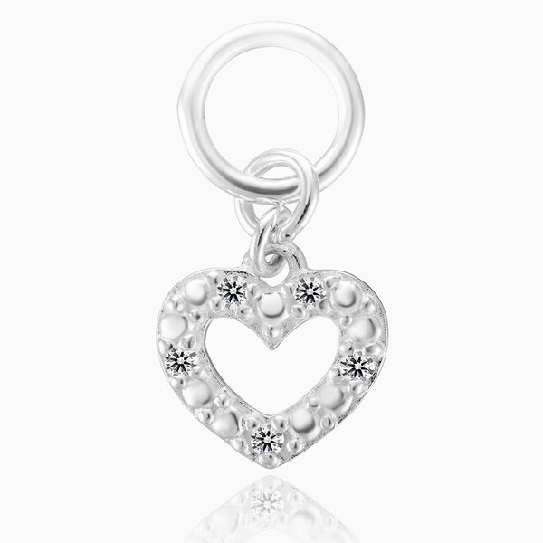Product title: Sparkling Heart Charm, product type: Charm