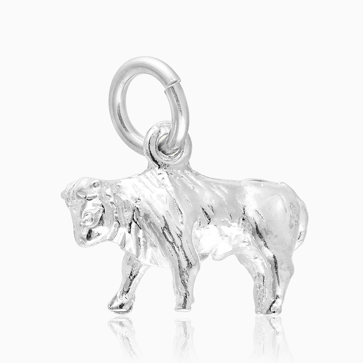 Product title: Taurus Silver Charm, product type: Charm