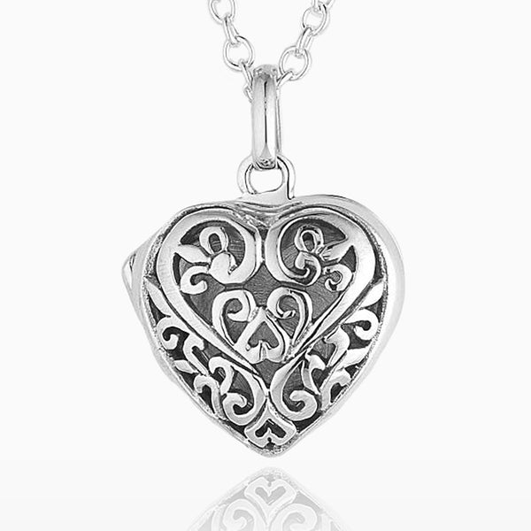 Product title: Silver Filigree Locket, product type: Locket