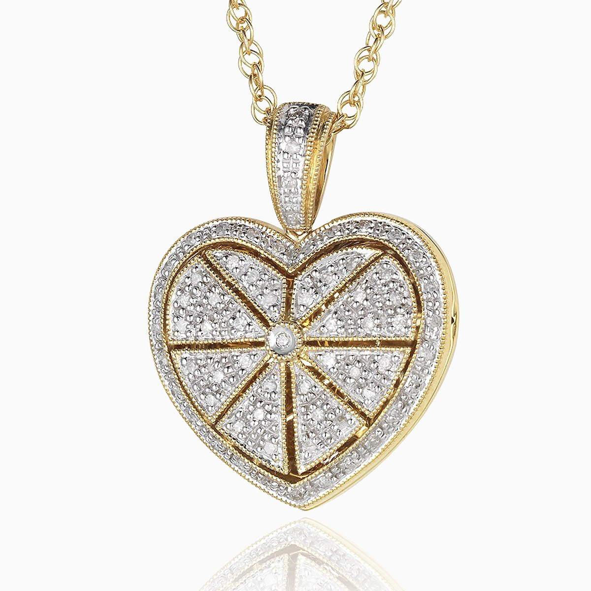 Product title: Pavé Set Diamond Gold Locket, product type: Locket