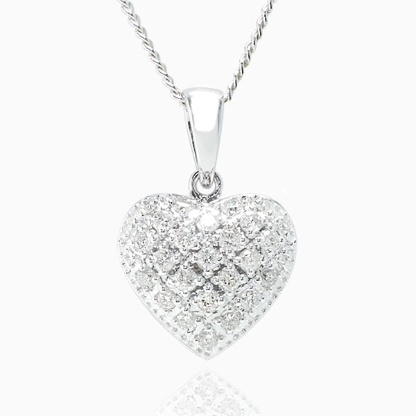 Product title: Pavé Set Diamond Petite Heart Locket, product type: Locket