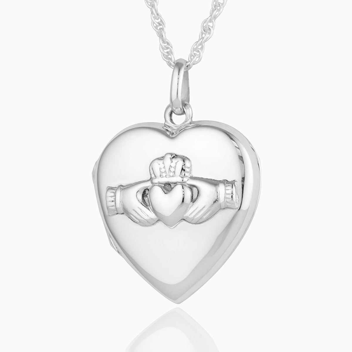 Product title: Silver Claddagh Locket, product type: Locket