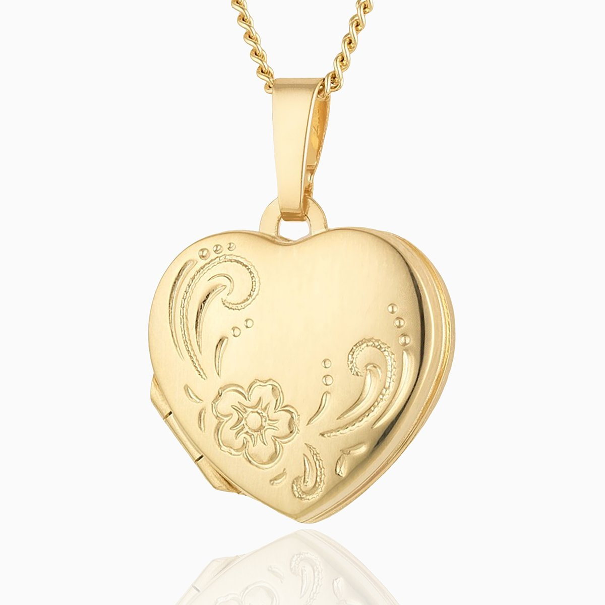 Product title: Petite Gold 4-Photo Heart Locket, product type: Locket
