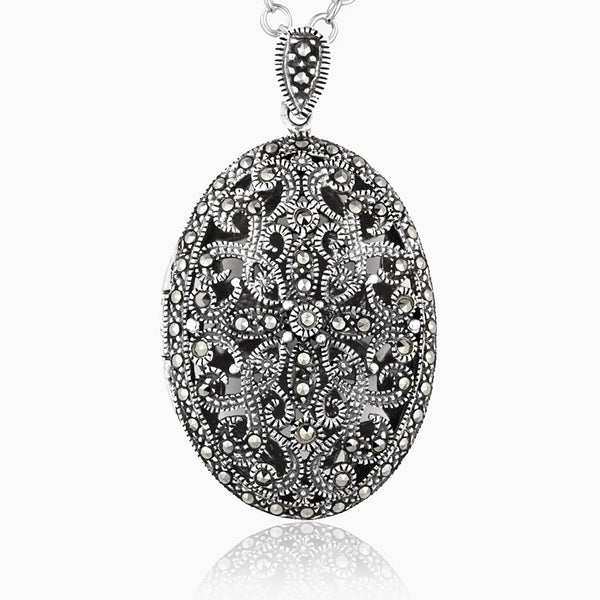 Product title: Extra Large Marcasite Locket, product type: Locket