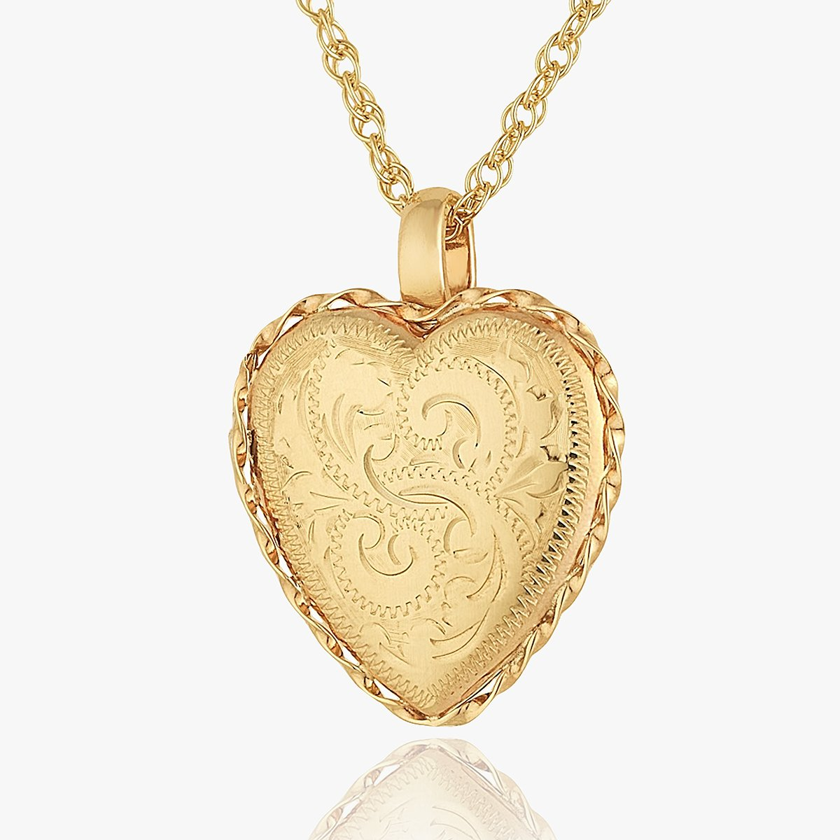 Product title: Victorian Gold Heart Locket, product type: Locket