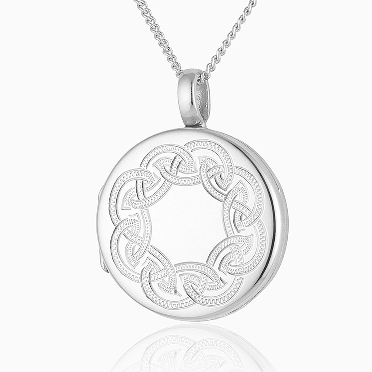 Product title: Handmade Celtic Weave Silver Locket, product type: Locket