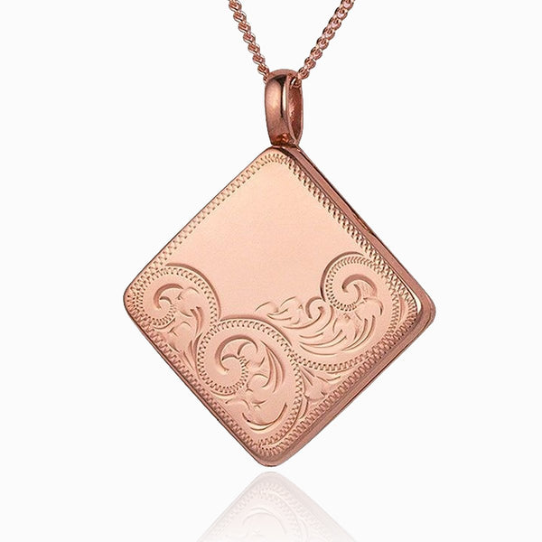 Product title: Rose Gold Tipped Square Locket, product type: Locket