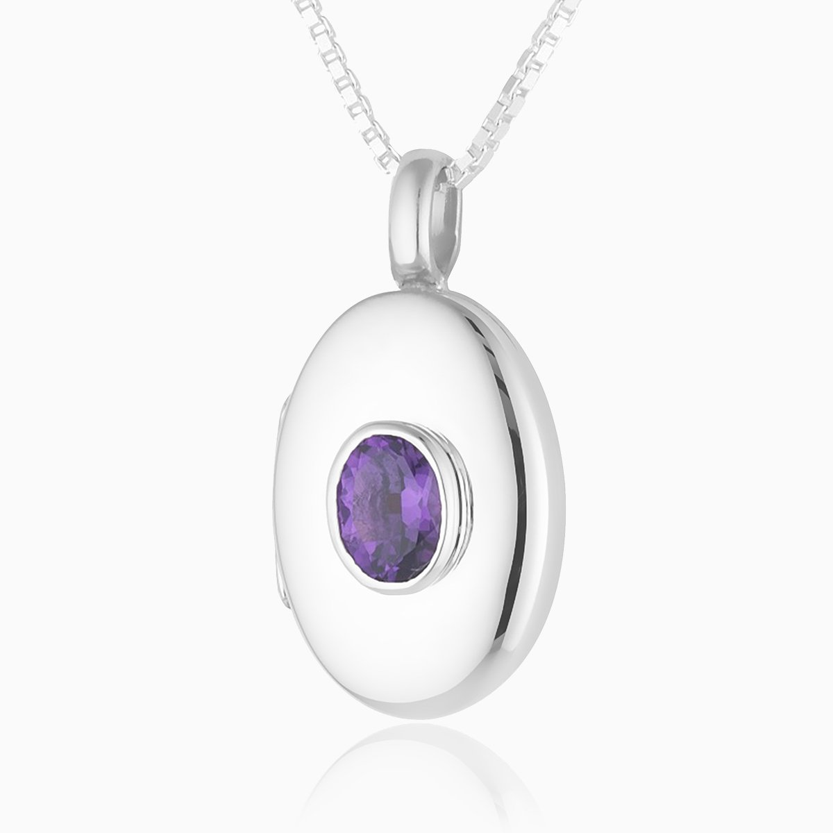 Product title: Amethyst Oval Locket, product type: Locket