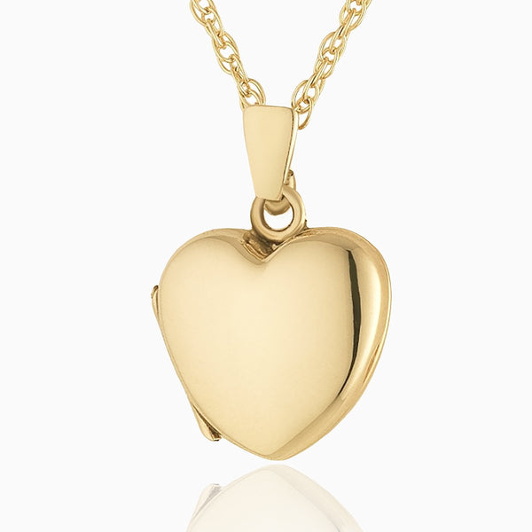Product title: Hand Polished Gold Petite Heart, product type: Locket