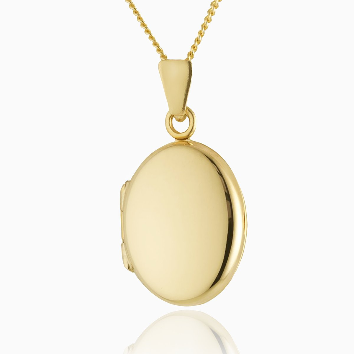 Product title: Hand Polished Petite Gold Oval Locket 16mm, product type: Locket