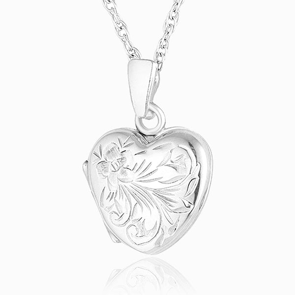 Product title: Hand Engraved Petite Silver Locket, product type: Locket