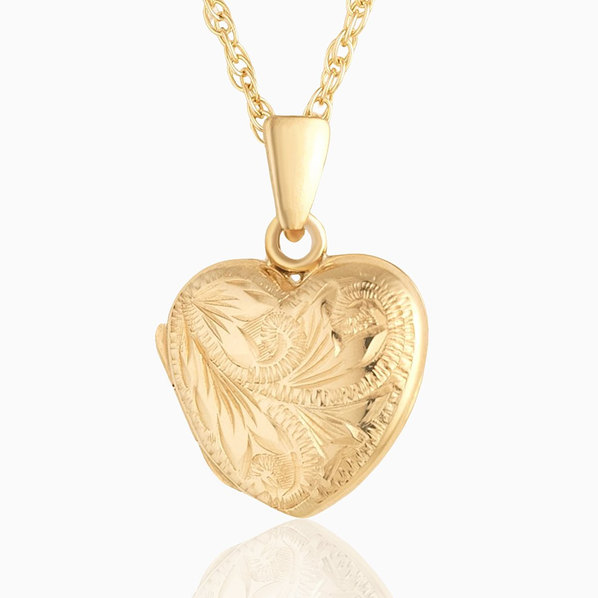 Product title: Hand Engraved Classic Petite Heart Locket, product type: Locket