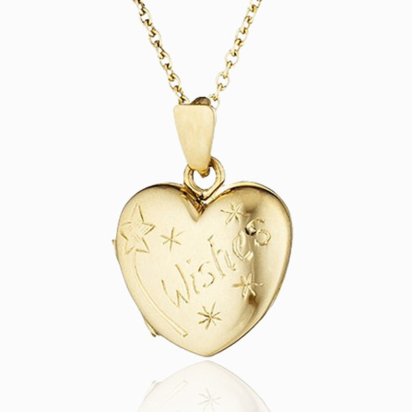 Product title: Gold Child's Wishes Locket, product type: Locket