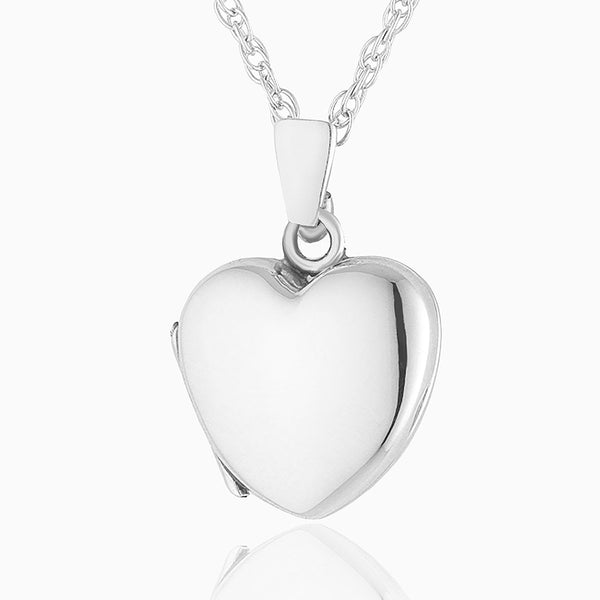 Product title: Hand Polished Petite Silver Heart, product type: Locket