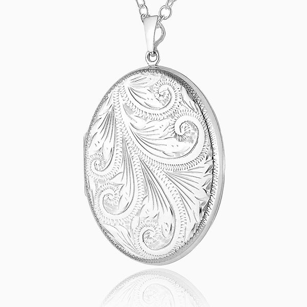 Product title: Extra Large Victorian Foliate Oval Locket, product type: Locket