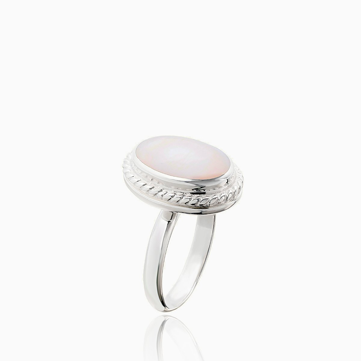 Product title: Pink Mother of Pearl Locket Ring, product type: Ring