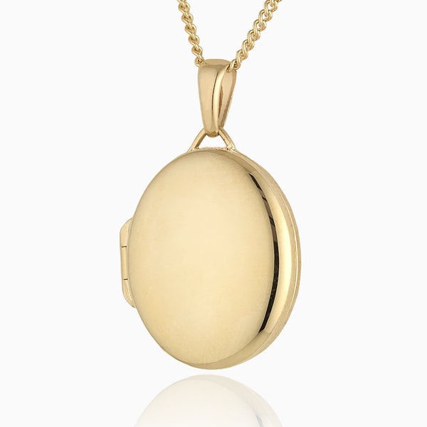 Product title: Classic Gold Oval Locket, product type: Locket