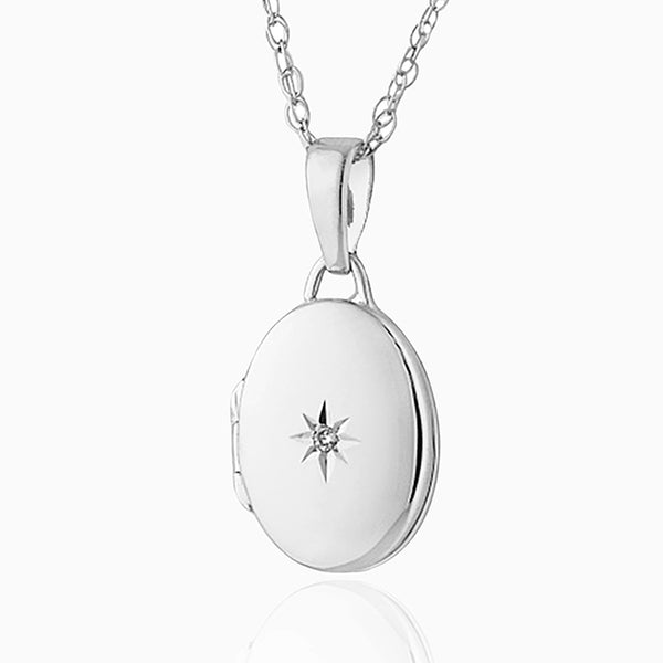 Petite Diamond Oval Locket