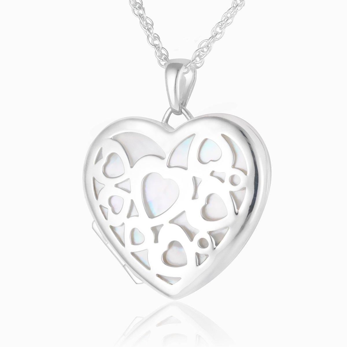 Product title: Mother of Pearl Heart Locket, product type: Locket
