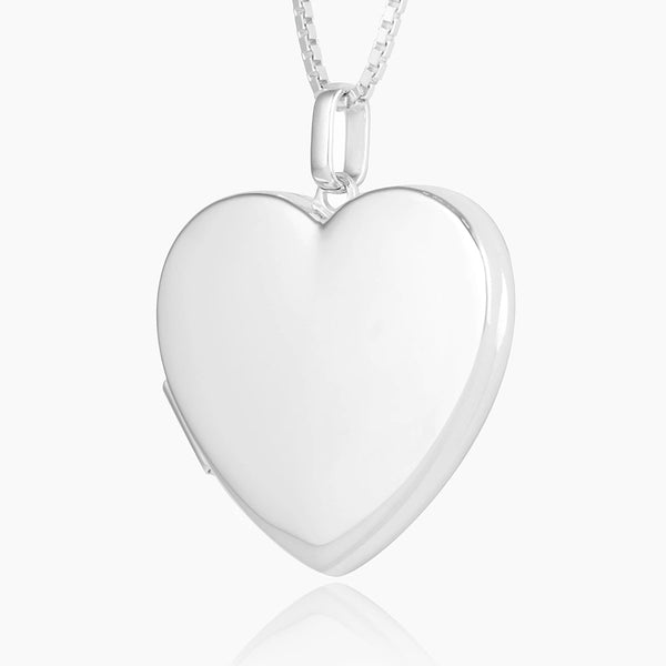 Product title: Large Polished Heart Locket, product type: Locket