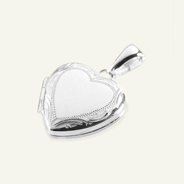 Product title: Petite Silver Border Locket 14 mm, product type: Locket